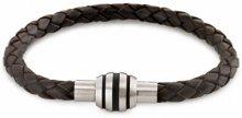 Boccia Titanium Kožený propletený náramek 0347-0921