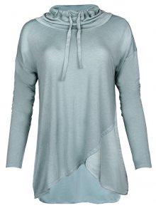Deha Dámské triko Highneck L/S Tee B84390 Mineral Blue XS