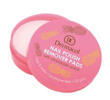 Dermacol Odlakovací tamponky na nehty s vůní ananasu (Nail Polish Remover Pads) 32 ks