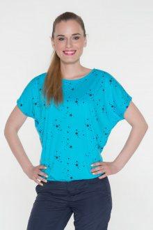 Sam 73 dámské triko s krátkým rukávem modrá neon S