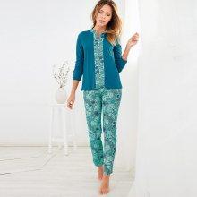 Venca Pyžamo s dlouhými rukávy a kalhotami s potiskem potisk S