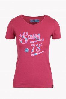 Sam 73 Dámské triko s krátkým rukávem Sam 73 malinová S
