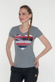 Sam 73 dámské triko s krátkým rukávem středně šedá S