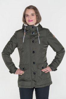 Sam 73 Dámský podzimní kabát Sam 73 zelená army S
