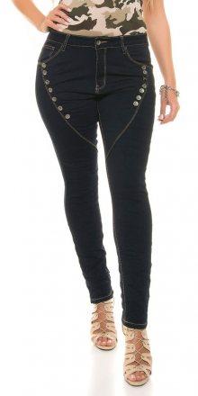 Koucla Temně modré dámské džíny