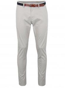Krémové slim fit chino kalhoty Selected Homme Yard