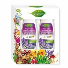 Bione Cosmetics Levandule regenerační šampon na vlasy 260 ml + relaxační sprchový gel 260 ml dárková sada