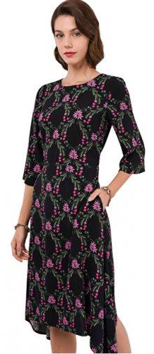 Closet London Dámské šaty Closet Hanky Hem Dress With Tie Black S