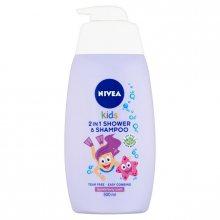 Nivea Dětský sprchový gel a šampon 2 v 1 s vůní lesního ovoce (2 in 1 Shower Shampoo) 500 ml