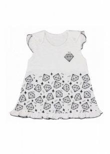 Koala Baby Diamencik 74-86 Šaty  86 bílá
