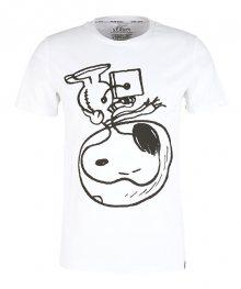 s.Oliver Pánské triko 13.911.32.4430.0100 White S
