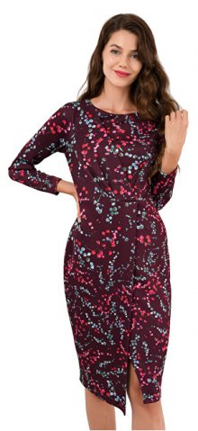 Closet London Dámské šaty Closet Draped Front Wrap Dress Maroon S