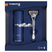 Gillette Kosmetická sada pro muže Fusion strojek + Sensitive gel 75 ml