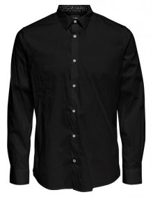 ONLY&SONS Pánská košile ONSENRICO LS STRETCH SHIRT Black S