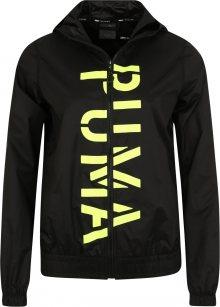 PUMA Sportovní bunda \'Be Bold Graphic Woven Jacket\' limetková / černá