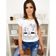 Dámské tričko s potiskem bílé