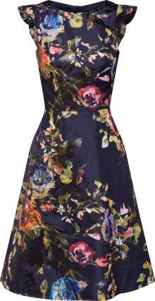 SWING Koktejlové šaty modrá / mix barev / černá