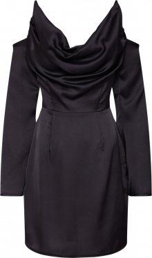 Missguided Koktejlové šaty černá
