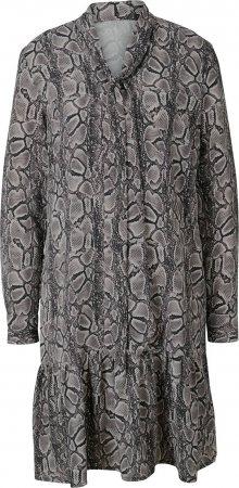 heine Košilové šaty tmavě šedá / šedobéžová