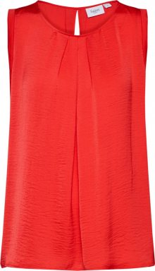 SAINT TROPEZ Top \'TOP WITH GATHER DET\' červená