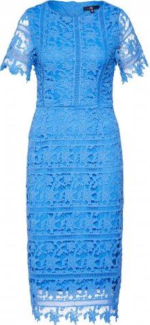 Missguided Koktejlové šaty \'Crochet Open Back\' modrá