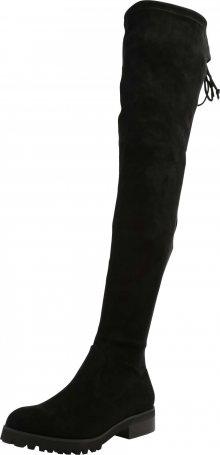 BUFFALO Kozačky nad kolena \'FLORY\' černá