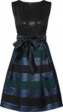 SWING Koktejlové šaty modrá / zelená / černá