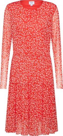 SAINT TROPEZ Šaty \'Leaf\' červená / bílá