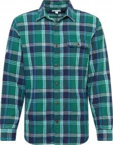 GAP Košile \'FA19 HERRINGBONE SHIRTS\' modrá / zelená