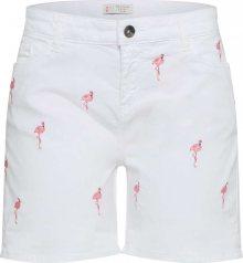 ESPRIT Kalhoty \'Flamingo\' růžová / bílá
