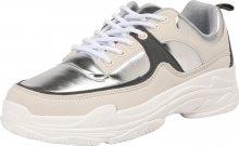 NA-KD Tenisky \'Aero Sneaker\' černá / stříbrná / bílá