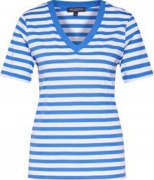 SELECTED FEMME Tričko modrá / bílá
