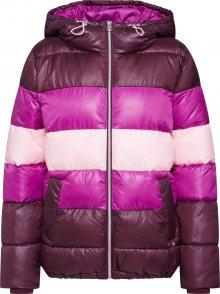 TOM TAILOR DENIM Zimní bunda pink / vínově červená