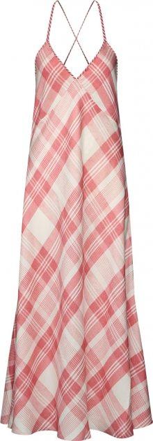POLO RALPH LAUREN Letní šaty růžová / bílá