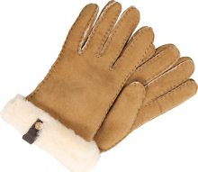 UGG Prstové rukavice \'Shorty Glove with leather trim\' cappuccino