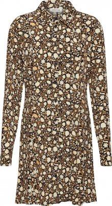 EDITED Košilové šaty \'Fritza\' žlutá / mix barev