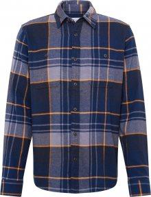 GAP Košile \'V-LS FLANNEL\' námořnická modř / šedá / oranžová