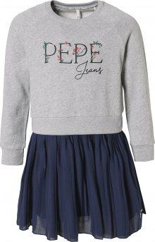 Pepe Jeans Šaty \'FLORA\' tmavě modrá / šedý melír
