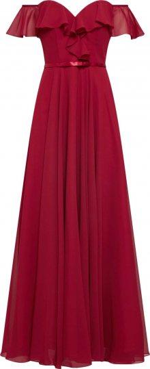 mascara Společenské šaty \'FRILLED\' vínově červená