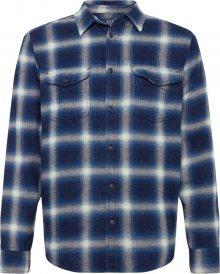 GAP Košile \'NOVELTY WESTERN - BLUE HERRINGBONE\' tmavě modrá / černá