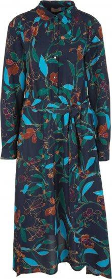 TRIANGLE Košilové šaty noční modrá / mix barev
