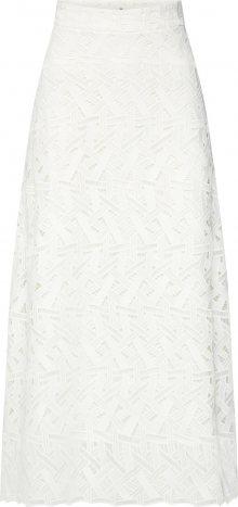 IVY & OAK Sukně \'Midi Graphic Lace Skirt\' bílá