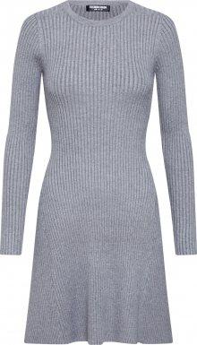 Fashion Union Úpletové šaty \'VERONICA\' šedá