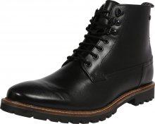 Base London Šněrovací boty černá