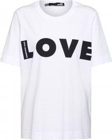 Love Moschino Tričko \'MAGLIETTA\' bílá