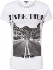 Tigha Tričko \'Dark Ride MSN\' černá / bílá