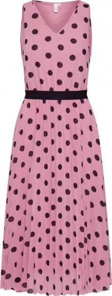 Q/S Designed By Letní šaty růžová / černá