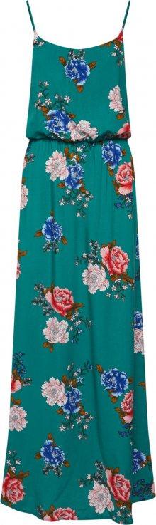 ONLY Letní šaty \'NOVA\' modrá / petrolejová / pastelově červená