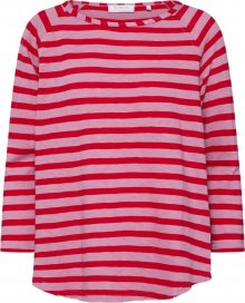 Rich & Royal Tričko \'Heavy Jersey Longsleeve striped\' červená