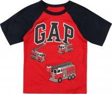 GAP Tričko \'FR CB Logo GR\' červená / černá